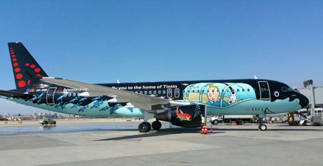 מטוס בריסל איירליינס בביקור בנתב