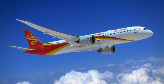 מטוס בואינג 787-9 של חברת התעופה היינאן איירליינס (צילום: יח