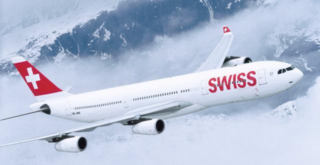 מטוס איירבוס A340 של חברת התעופה סוויס (צילום: יח