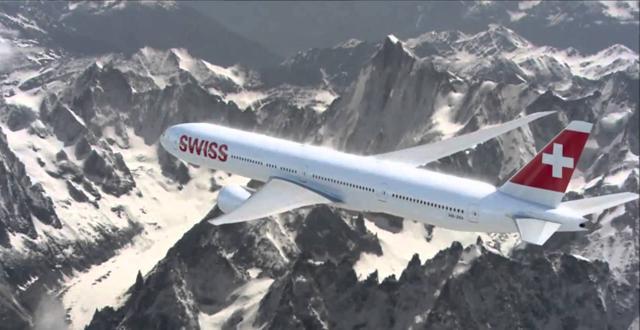 """מטוס בואינג 777-300ER של חברת SWISS. צילום יח""""צ"""