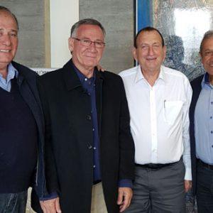 """ראשי הערים במאבק נגד סגירת שדה דב . יח""""צ"""