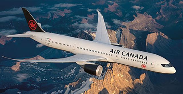 מטוס חברת התעופה אייר קנדה (צילום אייר קנדה)