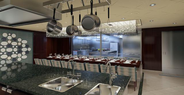 Chef's Table - בשולחן השף, יכולים להשתתף רק 12 אורחים בני מזל בארוחה שמוכנה בידי אחד השפים של קרניבל. צילום יחצ