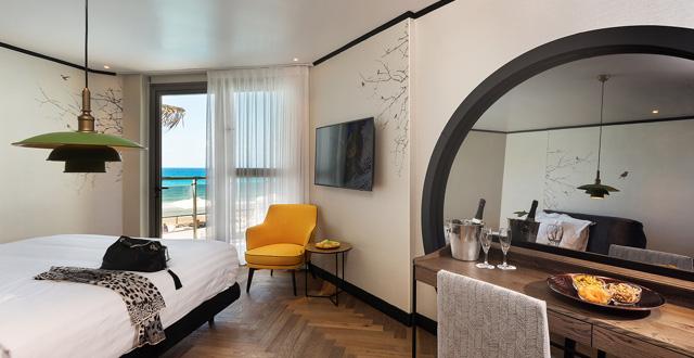 חדר מחודש במלון ספא שיזן הרצליה מרשת טמרס צילום רועי מזרחי