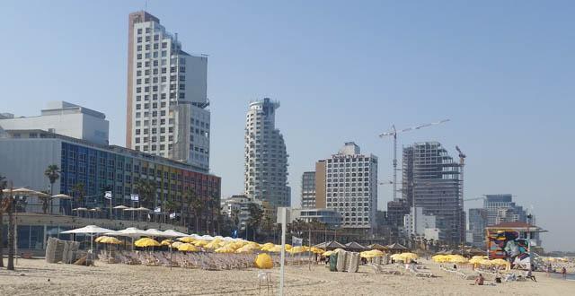 בתל אביב לנו בחציון הראשון של השנה 1.393,9 מיליון תיירים - גידול של 12% בהשוואה ל-2017 . צילום עוזי בכר