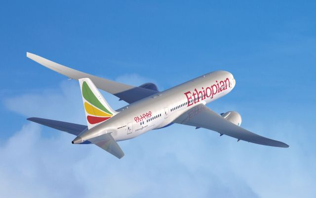 מטוס דרימליינר של אתיופיאן איירליינס. צילום יחצ