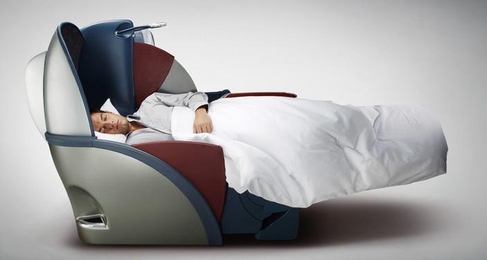 LATAM: מושב מחלקת עסקים הנפתח למיטה. צילום יחצ