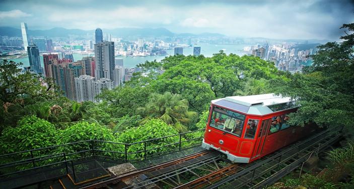 תצפית על העיר הונג קונג מפסגת ויקטוריה. צילום Depositphotos