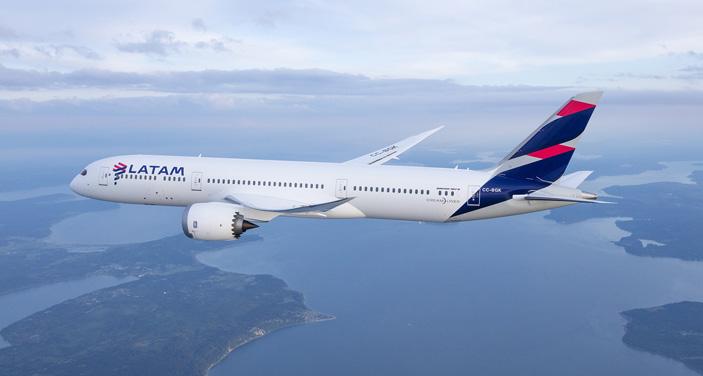 LATAM: מטוס דרימליינר שיופעל בקו לישראל. צילום יחצ