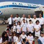 """100 ילדים ובני משפחות רחובות ועוטף עזה טסו במטוס """"רחובות"""""""