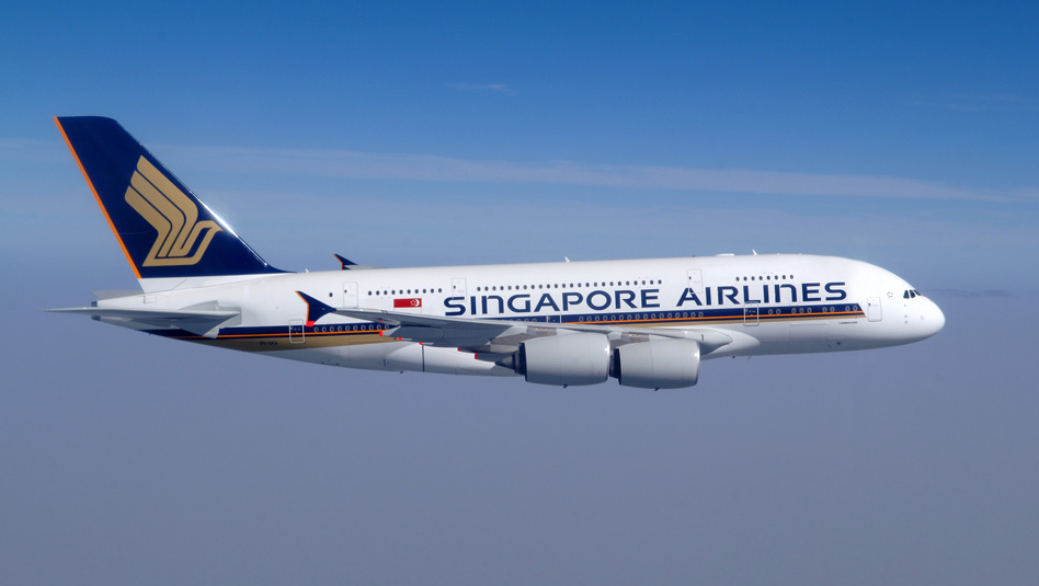 סינגפור איירליינס: מטוס איירבוס A380. צילום סינגפור איירליינס