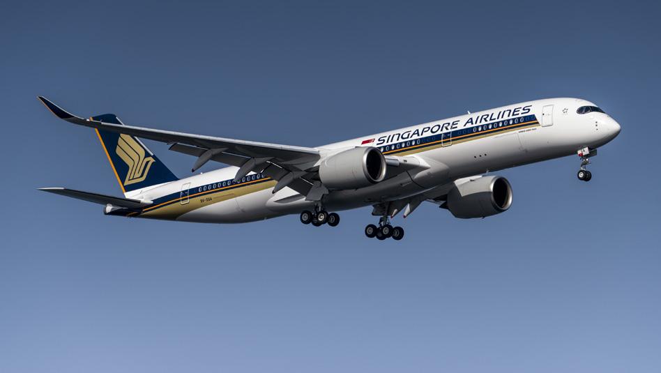 מטוס איירבוס A350-900ULR של סינגפור איירליינס עשה היסטוריה. צילום סינגפור איירליינס
