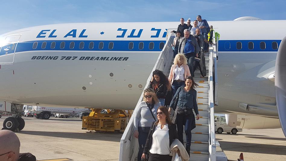 הגעת הנוסעים לכנס בפאפוס. צילום עוזי בכר
