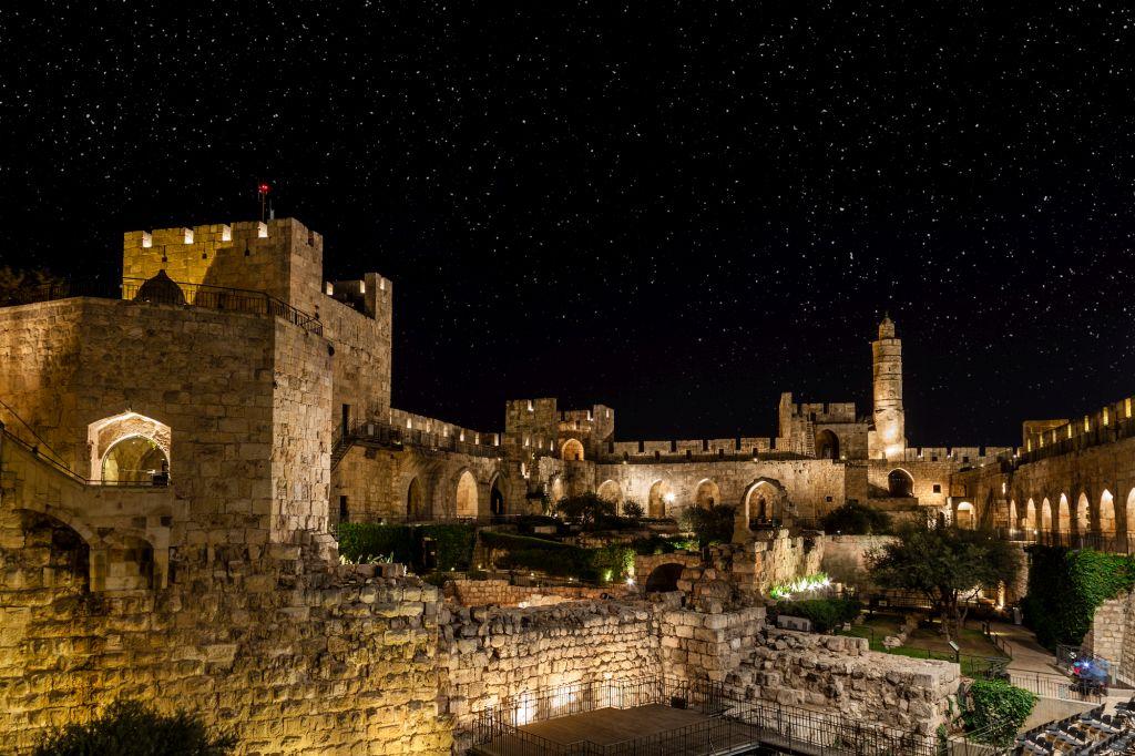 מגדל דוד. 34% מלינות התיירים נרשמו בירושלים. צילום Depositphotos
