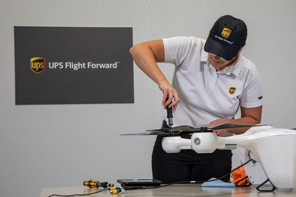 """מל""""ט ראשון של UPS Flight Forward מקבל אישור של ה-FAA צילום UPS"""