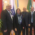 משלחת של חברי הנהלת ההתאחדות ביריד התיירות בטשקנט
