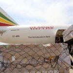 מטען של ציוד רפואי הגיע ארצה במטוסי קרגו של אתיופיאן איירליינס