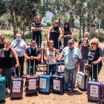 עשרות עובדי תיירות השתתפו היום במחאת המזוודות