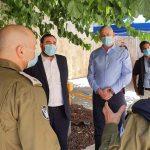 סיור שר הביטחון במלונית פרימה בירושלים
