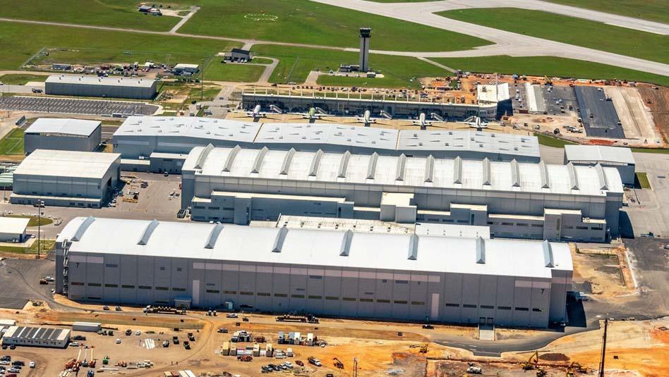 מתקן ייצור מטוסי איירבוס A220 במובייל, אלבמה. צילום איירבוס