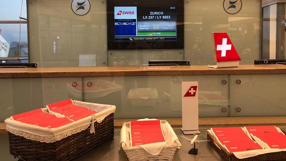שוקולדים שווייצרים בטיסת SWISS . צילום סוויס