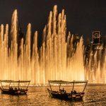 'מזרקת הדקלים' של דובאי בניסיון ליצור שיא גינס חדש