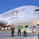 ועד שנוכל לטוס ישירות..מטוס איירבוס A380 של אמירייטס נחת בעמאן