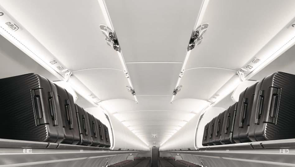 חללי אחסון עיליים גדולים במיוחד במטוס האיירבוס A321neo של קתאי פסיפיק