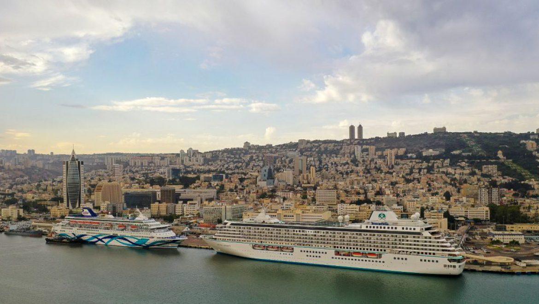 אושפיזין על המים: שלוש אוניות קרוז עוגנות היום ברציפי נמל חיפה