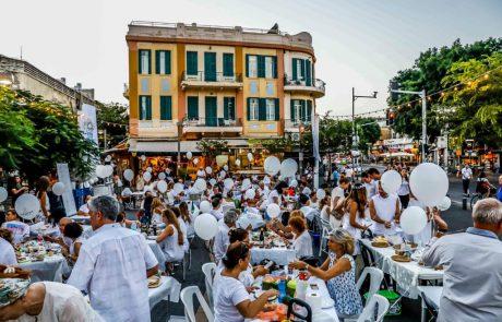 מחר ארוחה בלבן בקדם-לילה לבן 2019 בסימן האירוויזיון בתל אביב-יפו