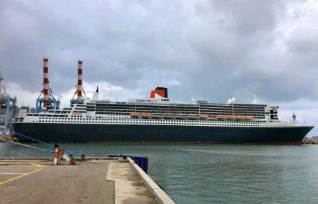 ביקור ״המלכה״ בנמל חיפה פותח שנת קרוזים עמוסה בנמל