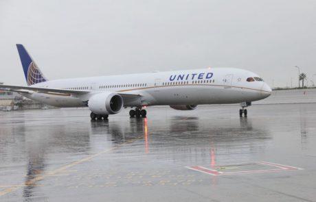 מטוס יונייטד החדש בהופעת בכורה בישראל