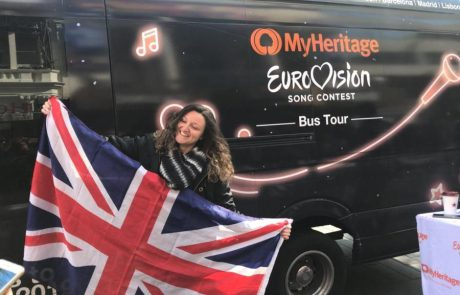 אוטובוס האירוויזיון הישראלי סובב בין ערי אירופה