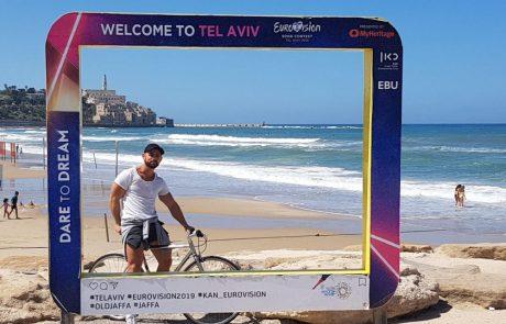 לתיירי האירוויזיון: סיורי אופניים באנגלית על קו החוף