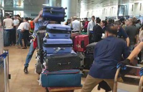 נמל התעופה בן גוריון חזר לפעול ומערכת מיון המזוודות עובדת