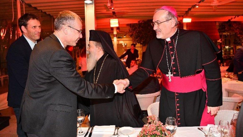 שר התיירות ערך את קבלת הפנים המסורתית לראשי הקהילות הנוצריות בישראל לחג המולד