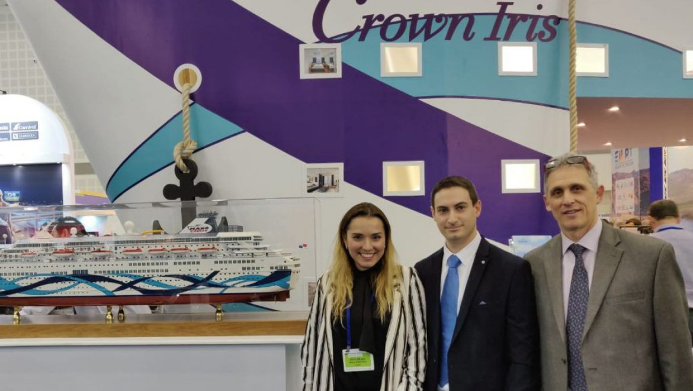 דגם של האוניה קראון איריס הוצב בתערוכת התיירות בתל אביב