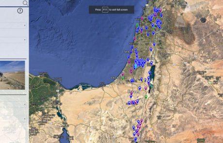חידוש באתר משרד התיירות – מפה אינטראקטיבית