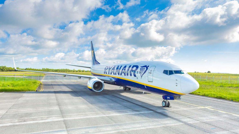 ריינאייר: 93% מהטיסות נחתו במועד באוגוסט