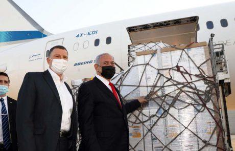 תמונות מהגעת חיסוני פייזר בטיסת מטען של אל על