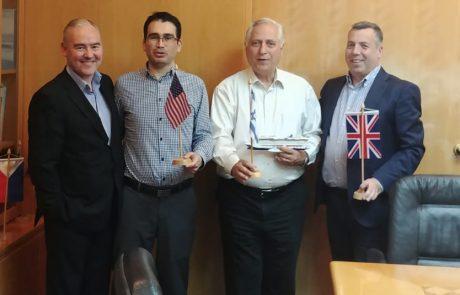 ביקור של בכירי NCL בישראל