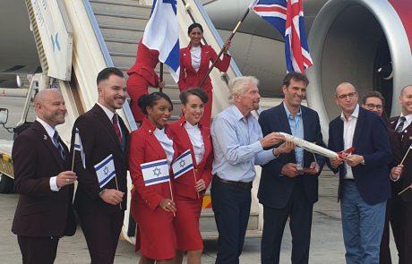 סר ריצ'רד ברנסוןנחת בישראל