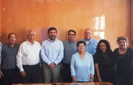רוברטו קבלו ביקר במשרדי חברת אופיר טורס