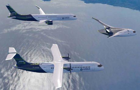 מטוסי העתיד ZEROe של יצרנית התעופה איירבוס