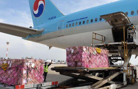 טיסת מטען של קוריאן אייר נחתה בישראל