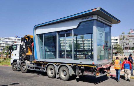 תחנות אוטובוס ממוזגות וחכמות באילת
