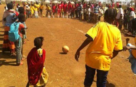 פעילות ספורט במחנה הפליטים גאדו, קמרון