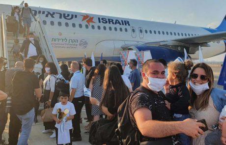 140 עולים מצרפת הגיעו אמש לישראל במטוס ישראייר