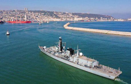 רבותיי ההיסטוריה חוזרת: אוניית מלחמה בריטית מבקרת בנמל חיפה