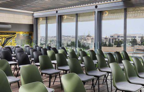 """ibis ירושלים מרכז העיר: הסתיימה בניית אולם האירועים """"הקומה ה-8"""""""